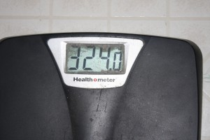 My current weight as of this afternoon